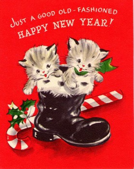 new year cats