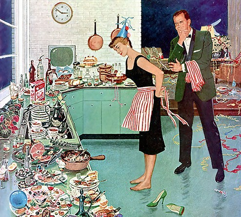 New years eve cartoon 1950s
